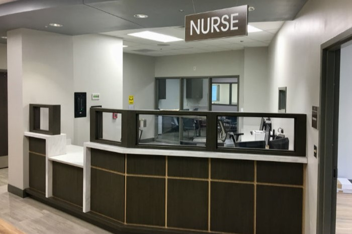 The nurse station at Wilmington Treatment Center