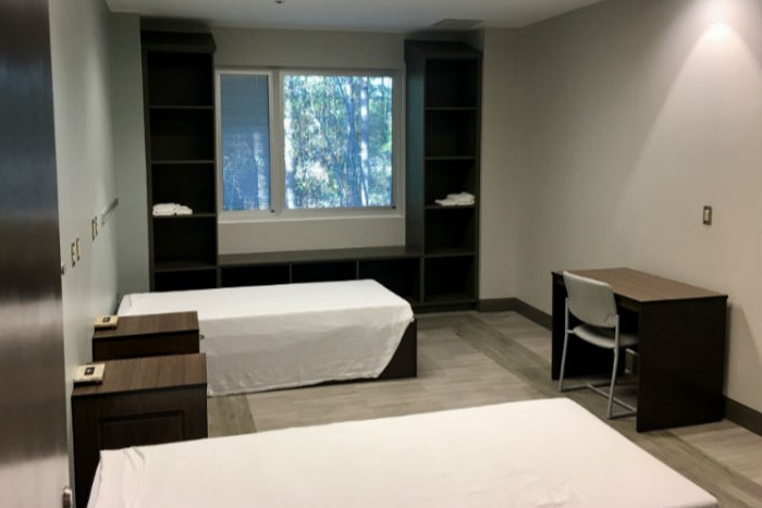 A bedroom at Wilmington Treatment Center